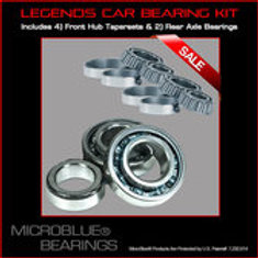 Microblue Steel Bearing Kit Front/Rear Axles