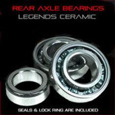 Microblue Steel Rear Axle Bearings w/collar