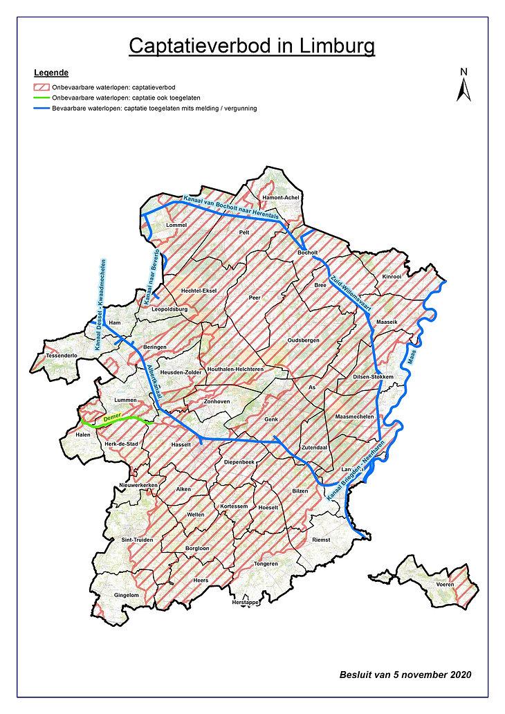 Overzichtskaart stroomgebieden met capta
