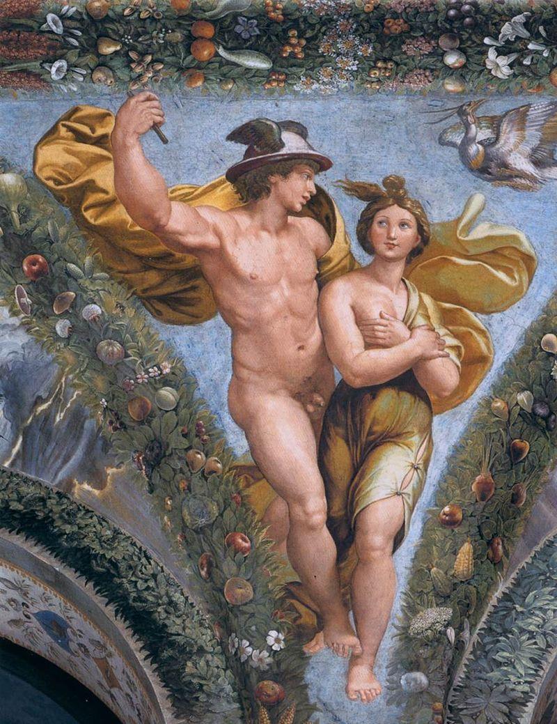 Hermes levando Psiquê ao Olimpo