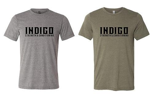 INDIGO -BELLA+CANVAS Unisex Tri-blend Tee 3413