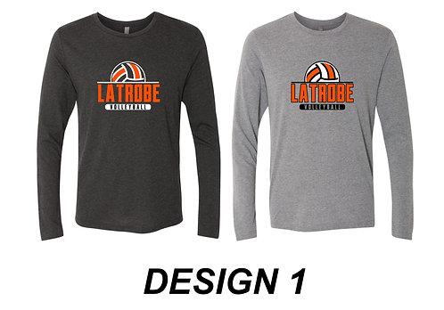 LATROBE VOLLEYBALL | Next Level - Triblend Long Sleeve Crew - 6071