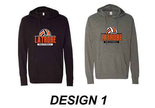 LATROBE VOLLEYBALL | Lightweight Hooded Pullover T-Shirt - SS150J