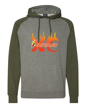 INFERNO | Independent Trading Co. - Raglan Hooded Sweatshirt - IND40RP