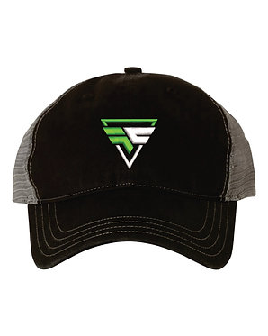 FURYAN | Richardson - Garment Washed Trucker Cap - 111- Black/Charcoal