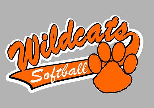 """6"""" Latrobe Girls Softball Window Cling - (Personalization Optional)"""