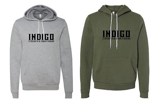 INDIGO - BELLA+CANVAS Sponge Fleece Hoodie- 3719
