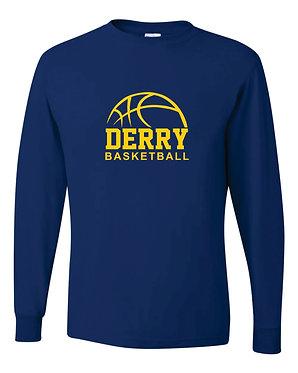 DERRY BASKETBALL |Jerzees - Dri-Power® Long Sleeve 50/50 T-Shirt / Royal - 29LSR