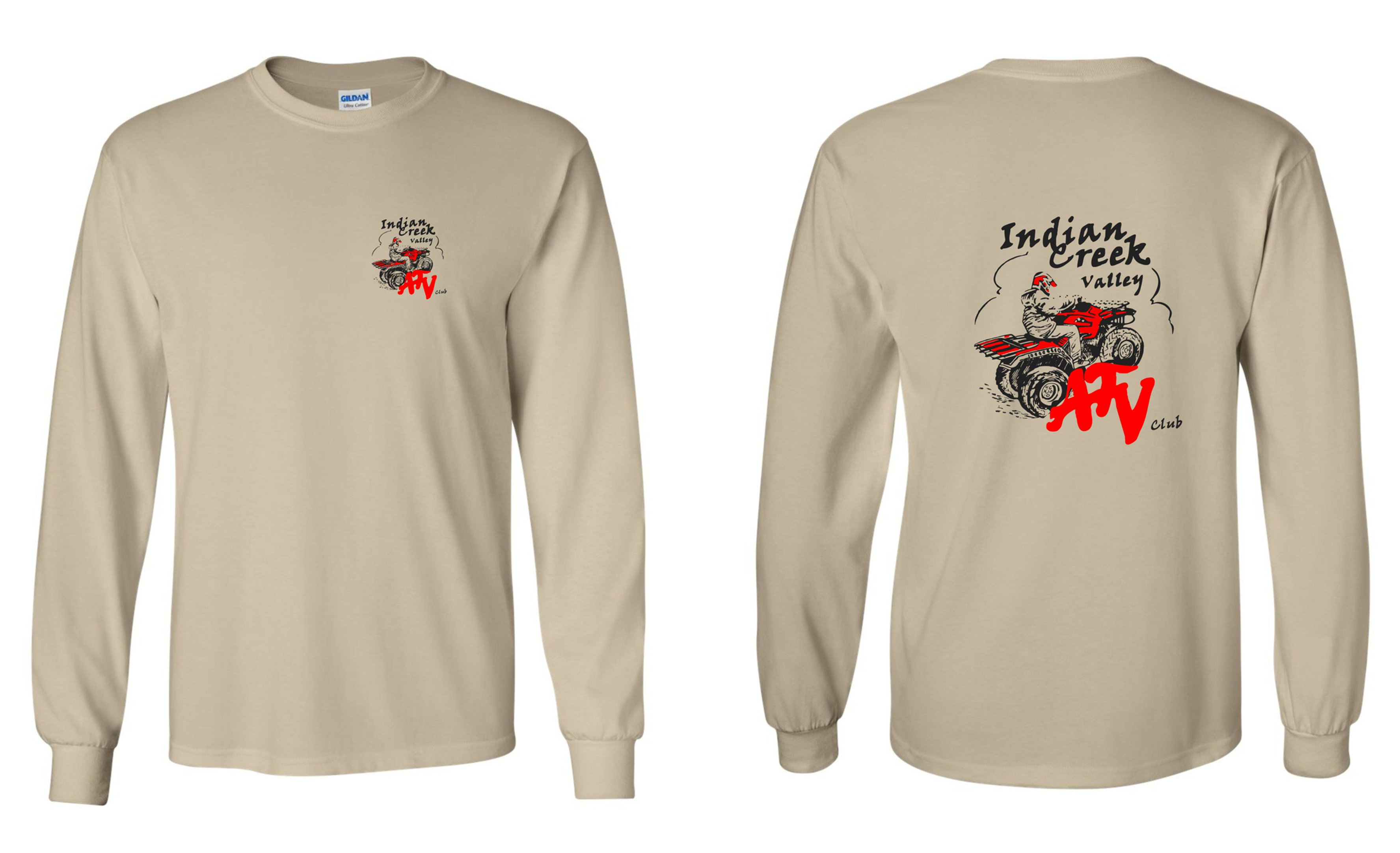 4bf2d4eef6dc Gildan - Ultra Cotton Long Sleeve T-Shirt -2400 | levelonegraphics