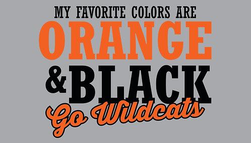 My favorite color are Orange & Black