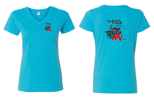 Indian Creek ATV | LAT Womens V-neck T-shirt - 3507