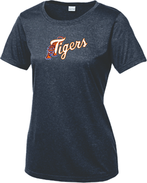 Sport-Tek® Ladies Heather Contender™ Scoop Neck Tee - LST360 - NAVY HEATHER