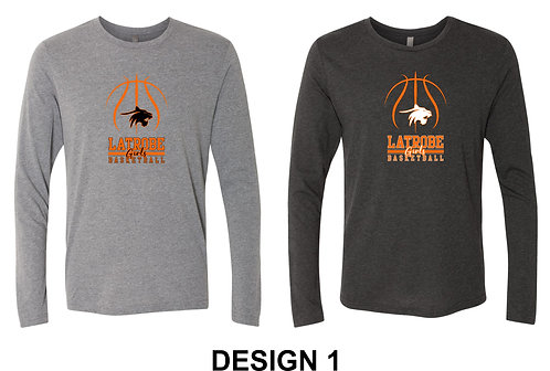 LATROBE GIRLS BASKETBALL | Next Level - Triblend Long Sleeve Crew - 6071