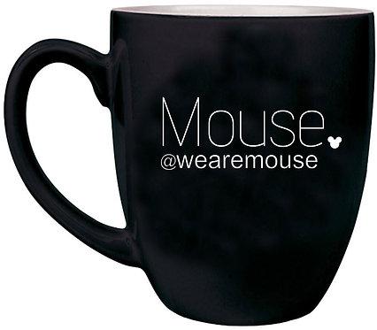 MOUSE | 16 oz. Black Ceramic Bistro Mug