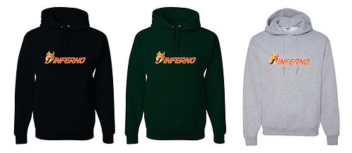 INFERNO | Jerzees - NuBlend Hooded Sweatshirt - 996MR