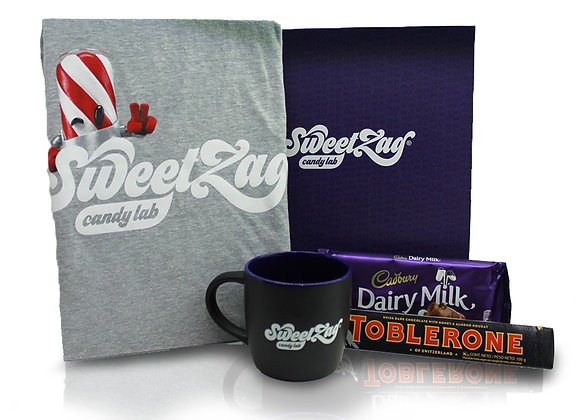 Gift Box Taza + Playera + Toblerone + Cadbury