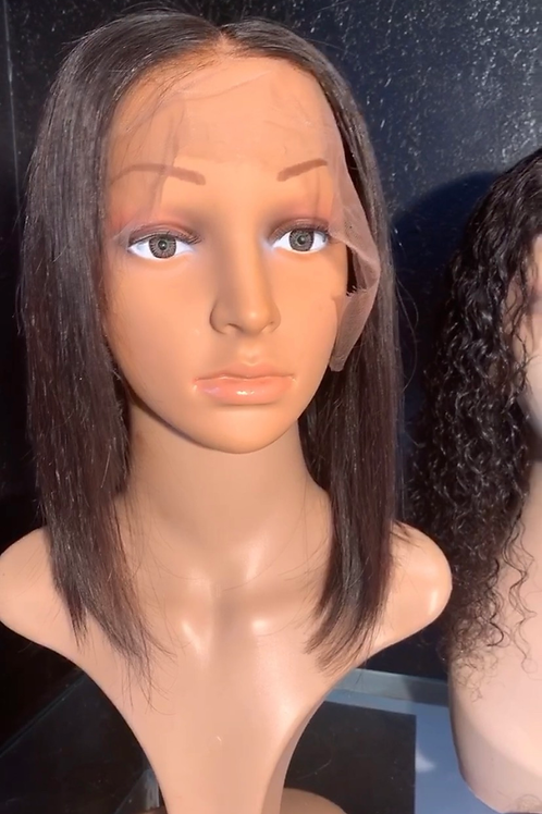 Straight lace front bob wig 13x6