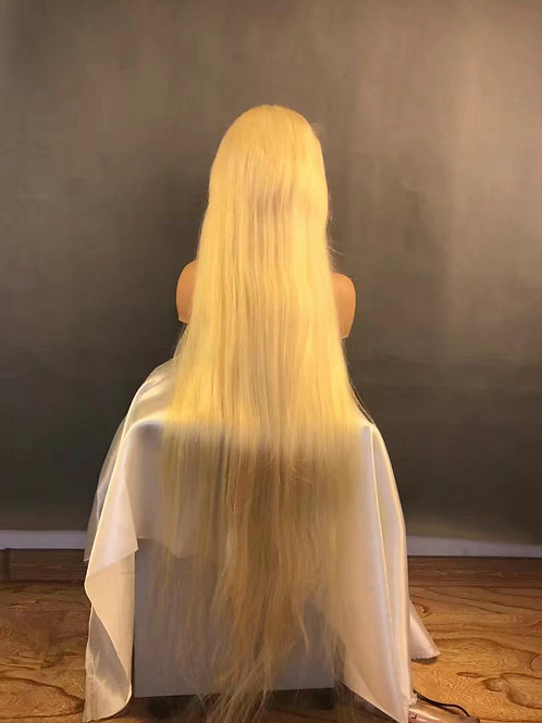 "40"" Blonde 613 lace front wig 180 density"