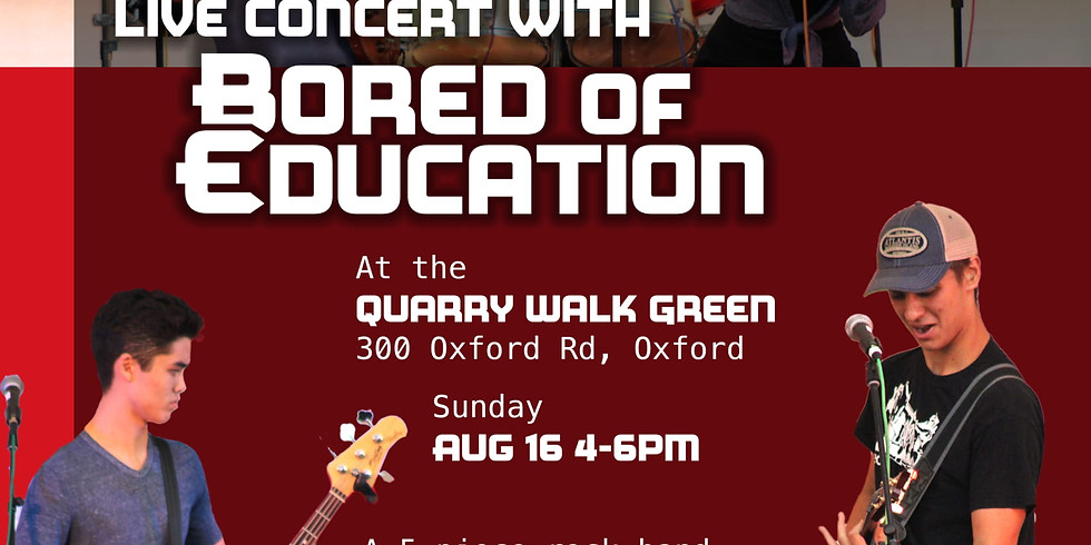 Bored of Education Concert - (Max Pannella Band)