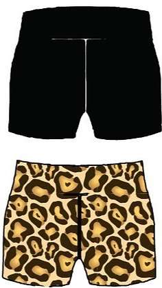 Leaping Leopard Shorts