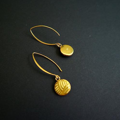 Boucles crochets petites médailles