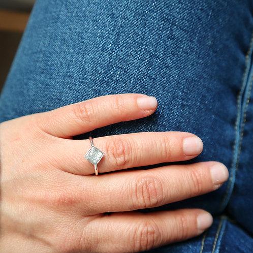 Bague Mini carré Glitter&Silver