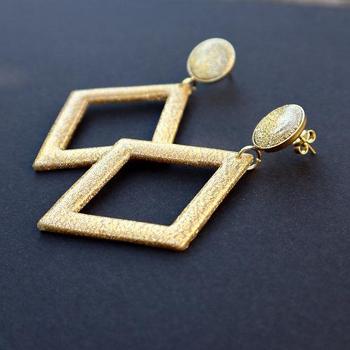 Boucles Losanges Glitter&Gold