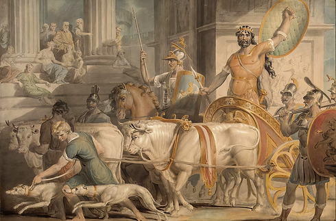 Lycurgus entering Athens from Dryden's Fables.png