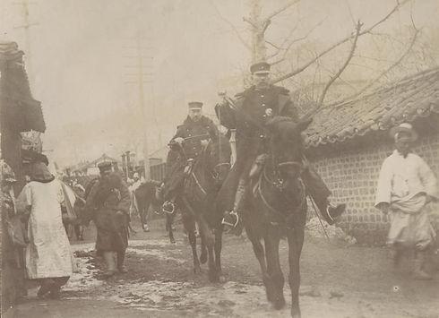 wo-Japanese-officers-on-horseback-in-a-n