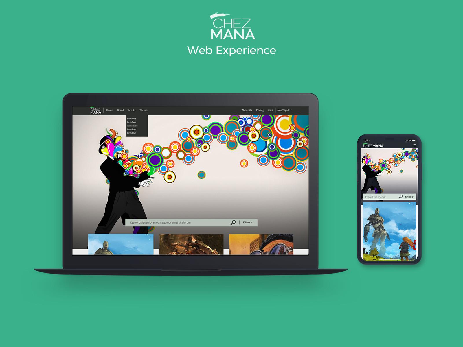 ChezMana Inc. Web Experience