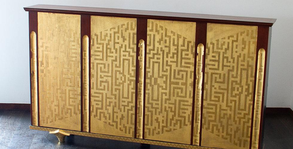 Four Door Cabinet in the Manner of Eugene Printz