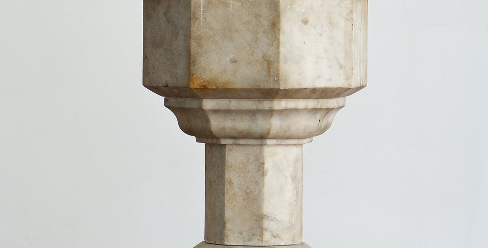 Miniature English Marble Font circa 1860