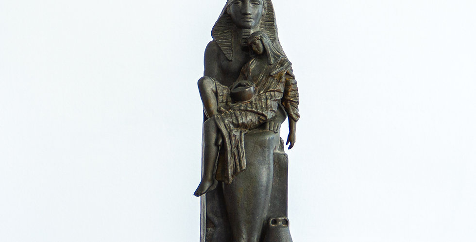 French Spelter Egyptian Style Sculpture circa 1880
