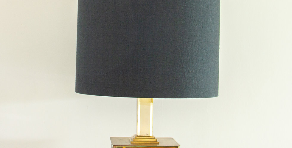 Patchwork Brass and Chrome Lamp 1970s