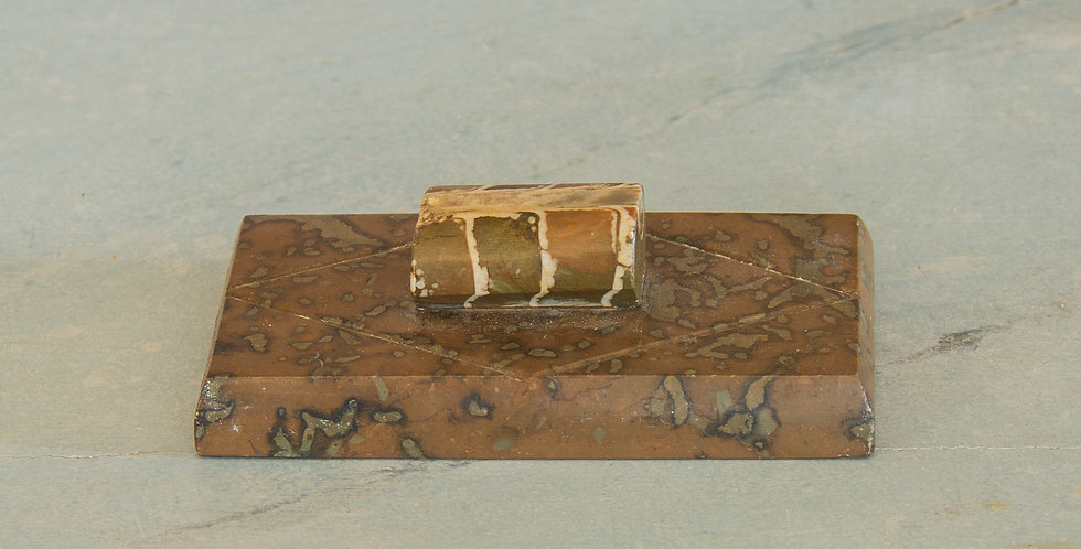 Marble Press with a Fossil Handle, circa 1850