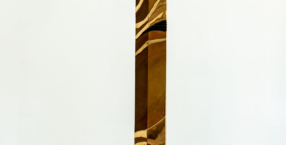 Tall Patinated Steel Table Sculpture 1980s