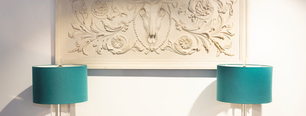 Large Neoclassical Style Plaster Panel