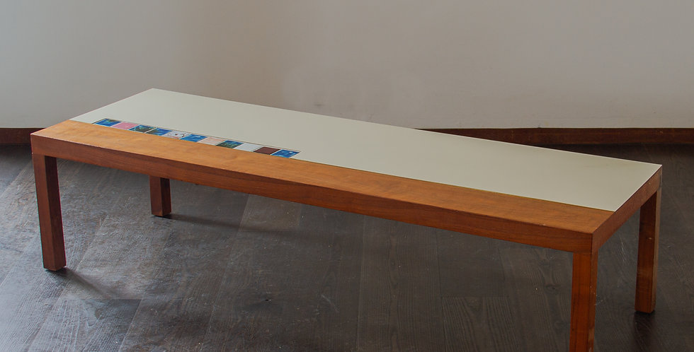 Rectangular Wooden and Laminate Coffee Table 1960s