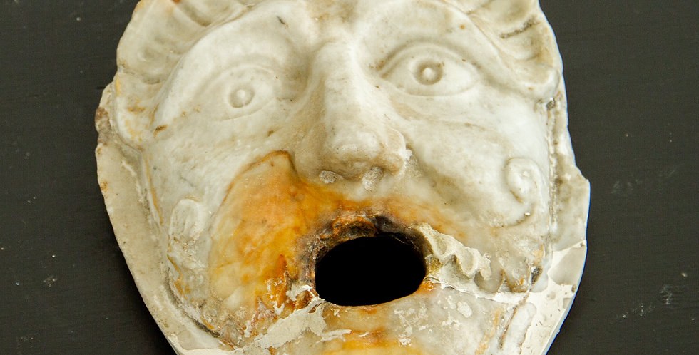Italian Marble Fountain Mask circa 1840