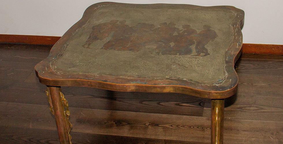 1960's LaVerne Romanesque Bronze Coffee Table