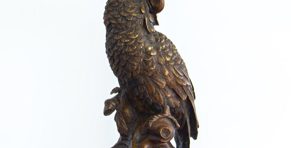 20th Century Bronze Parrot