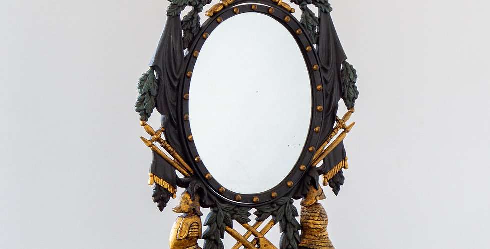 Swedish Cast Iron Table Mirror in the Neoclassical Manner