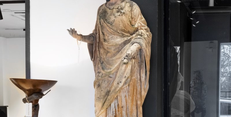 Superb Statue of Flora by Pulham Pottery circa 1870
