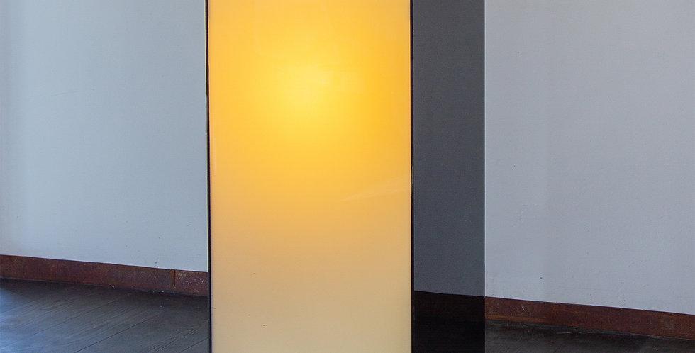 An Large Italian Black and Ivory Acrylic Lightbox Pedestal, 1970s