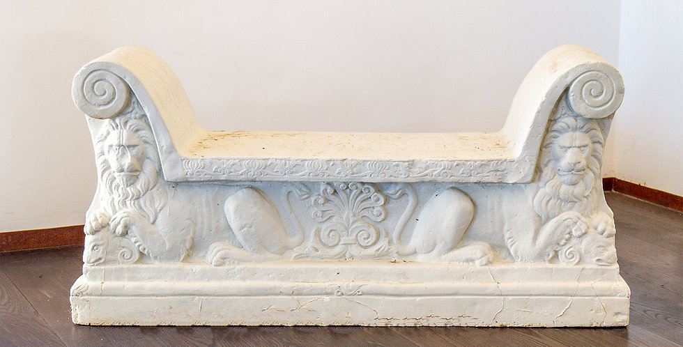 A Unique Hard Plaster Maquette of an 18th Century Italian Marble Bench
