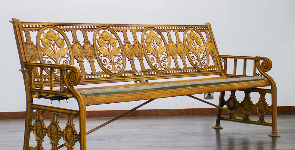 Stunning English Coalbrookdale Cast Garden Bench