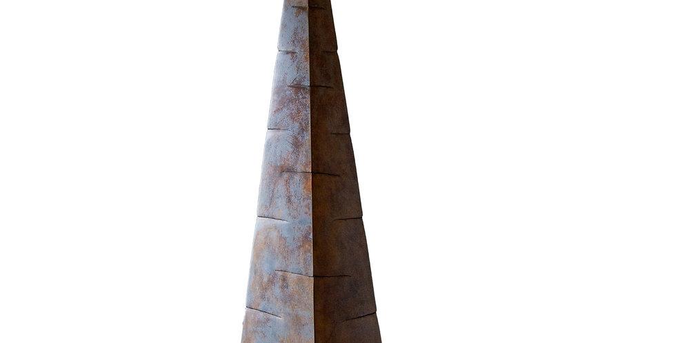 Large Unique Bronze Obelisk Cast by Ken Bolan