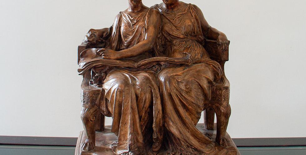 19th Century Terracotta of Greek Ladies