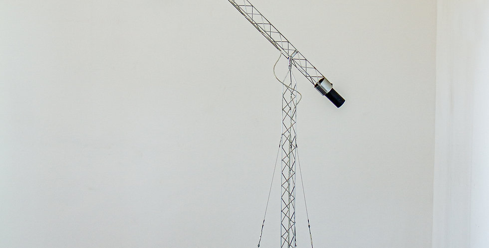 Curtis Jere designed adjustable crane floor lamp, 1970s