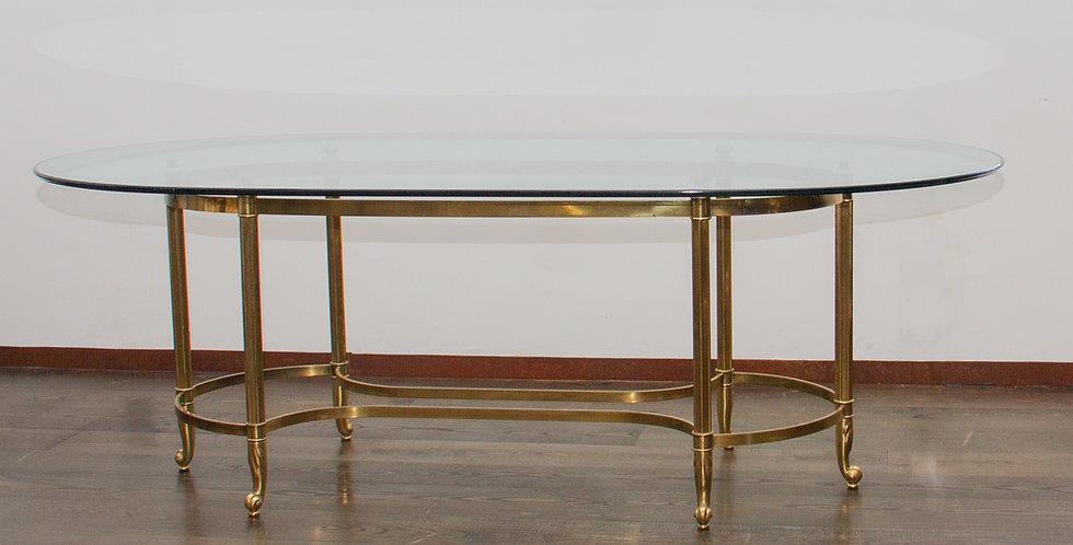 Brass and Glass Centre Table / Desk circa 1970's
